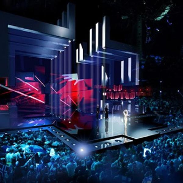 "Unique ""Eurovision"" stage"
