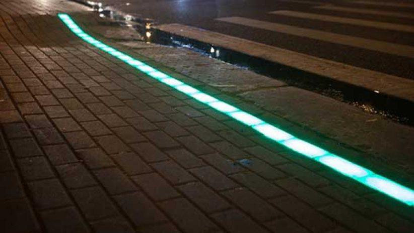Первый лежачий светодиодный светофор в Москве