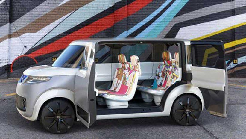 Светодиодный салон автомобиля, концепт Nissan