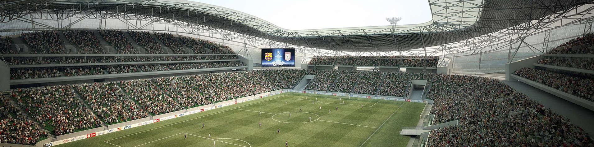 Стадион оборудованный светодиодным табло